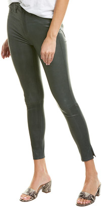 Rag & Bone High Rise Leather Ankle Cut Skinny Leg