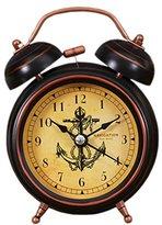 Retro Creative Mute Alarm Clock Student Children Bedroom Bedside Clock (Anchor)