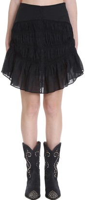 Isabel Marant Sidney Skirt In Black Cotton