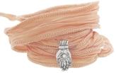 Catherine Michiels Mudra Silver Charm & Silk Bracelet Wrap