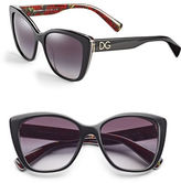 Dolce & Gabbana 55mm Cat-Eye Sunglasses