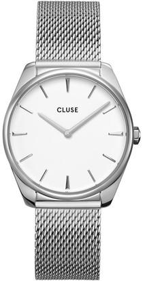 Cluse Feroce CW0101212001 Silver Mesh/White