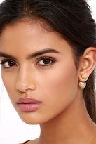 LuLu*s Rollin' Stone Peach Peekaboo Earrings