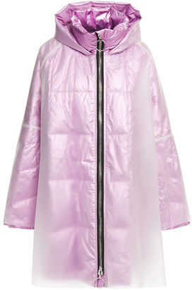 Ienki Ienki Raincoat Foiled Shell And Pvc Down Hooded Coat