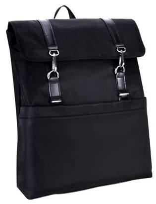 McKlein Usa ELEMENT, Flap Over Laptop Backpack, Nano Tech-Light Nylon with Leather Trim, Khaki (18474)