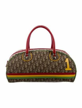 Christian Dior Diorissimo Rasta Bowler Bag Brown