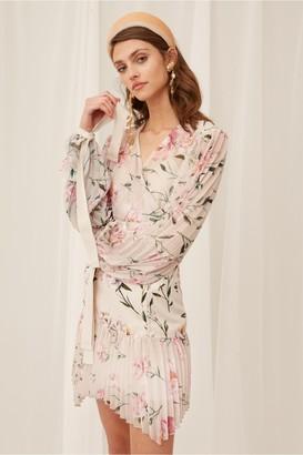 Keepsake NOBODY MINI DRESS oatmeal gardenia