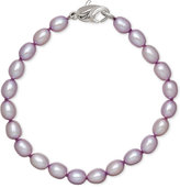 Honora Style Lilac Cultured Freshwater Pearl Bracelet in Sterling Silver (7-8mm)