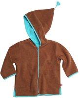 Zutano Cozie Zip Jacket With Hood-Fuchsia-6 Months
