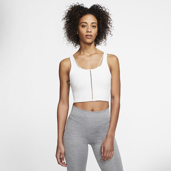 Nike Women S Infinalon Cropped Tank Yoga Luxe Shopstyle Sport Tops