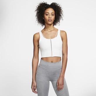Nike Women's Infinalon Cropped Tank Yoga Luxe