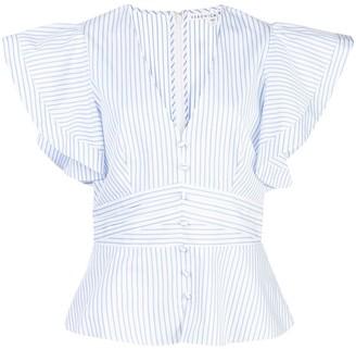 Veronica Beard striped V-neck blouse