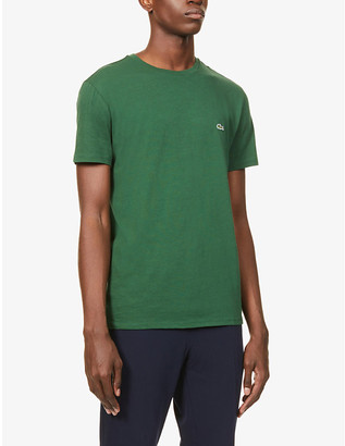 Lacoste Logo-embroidered cotton-jersey T-shirt