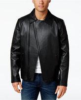 Calvin Klein Men's Laser Cut Leather Jacket