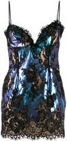 Christopher Kane foil lace mini dress