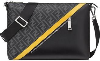 Fendi Logo-Print Messenger Bag