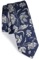 The Tie Bar Men's Floral Swell Silk Skinny Tie