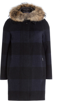 Woolrich Down Coat with Fur-Trimmed Hood