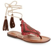 Matisse Women's Bronte Tassel Lace-Up Sandal