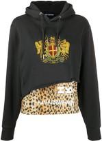 Han Kjobenhavn leopard-panelled hoodie