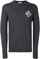 Versace embroidered logo sweatshirt - men - Acrylic/Wool - S