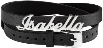 Limoges Jewelry Bracelets SILVER - Sterling Silver & Black Leather Personalized Bracelet & Choker