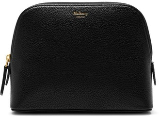 Mulberry Continental Cosmetic Pouch Black Small Classic Grain