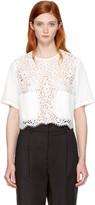 3.1 Phillip Lim White Lace Combo Boxy T-shirt