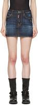 DSQUARED2 Indigo Denim Miniskirt