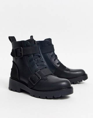UGG Beachpunk double buckle ankle boots in black