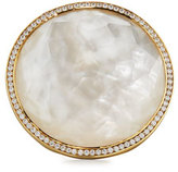 Ippolita Lollipop 18k Mother-of-Pearl & Diamond Cocktail Ring, Size 7