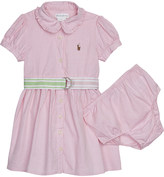 Ralph Lauren Belted cotton shirt dress and under shorts 3-24 months
