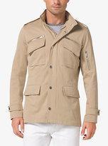 Michael Kors Cotton-Blend Utility Jacket