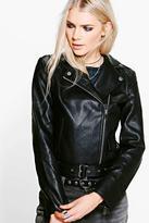 Boohoo Jasmine PU Leather Biker Jacket