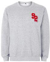 Topman Gray '92' Embroidered Sweatshirt