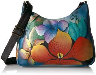 Anuschka Anna by Women's Genuine Leather Medium Hobo Shoulder Bag | Hand Painted Original Artwork |
