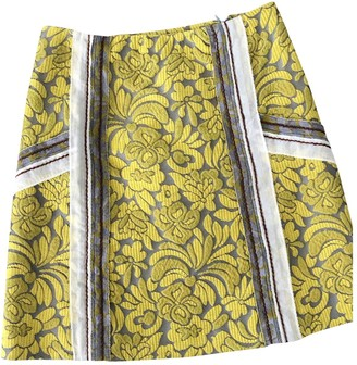 Prada Yellow Cotton Skirt for Women