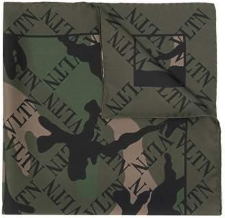 Valentino VLTN camouflage scarf