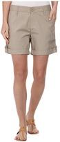 DKNY Poplin Shorts - Shorts w/ Lace Details in Baja