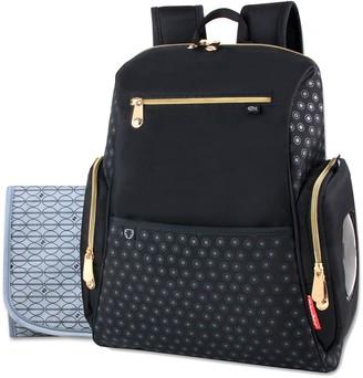 Fisher-Price Black Backpack Diaper Bag