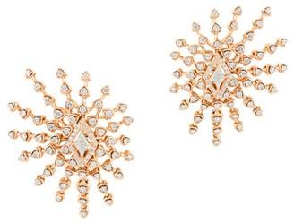 Marli Broadway 18K Rose Gold & Diamond Statement Earrings