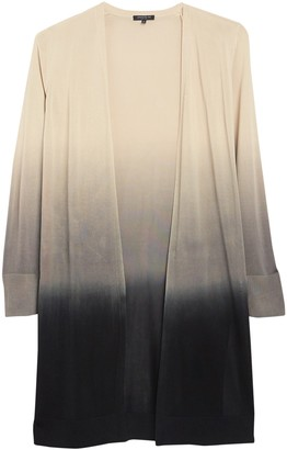 Lafayette 148 New York Dip Dyed Open Front Cardigan