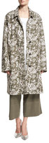 Robert Rodriguez Floral Embroidered Car Coat