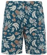 Desmond & Dempsey - Fruit Print Cotton Poplin Pyjama Shorts - Mens - Multi