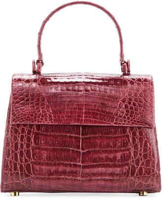 Nancy Gonzalez Lexi Small Shiny Crocodile Top-Handle Bag
