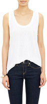 Barneys New York Women's Slub-Knit Tank-WHITE