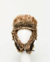 Le Château Nylon Faux Fur Trapper Hat