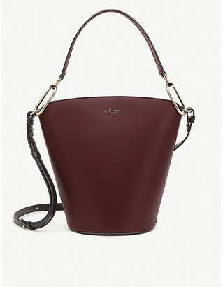 Smythson Equestrian saddle leather bucket bag