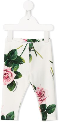Dolce & Gabbana Kids Rose Print Leggings