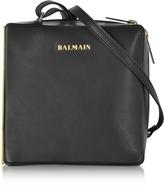 Balmain Pablito Black Leather Shoulder Bag